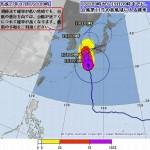 台風11号が今夜上陸!雨、暴風、高潮、高波、進路予想は更に東に