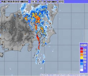 18号が抜けても関東は記録的大雨!線状降水帯|台風17号が挟み撃ち!!
