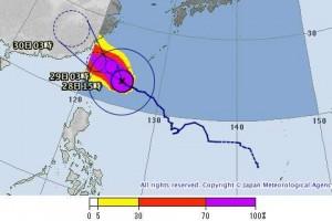 台風21号石垣島の八重山列島に大接近で15号越え!?最新情報と進路2015
