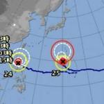 台風24号でまた与那国と石垣が|各国進路予想|25号は小笠原直撃へ【2015】