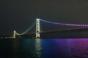 明石海峡大橋11月と12月のライトアップパターン