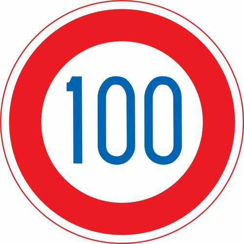 160328  Japan_road_sign_saikousokudo_100km